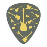 Mediator with different guitar icons Stock Photo