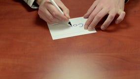 Mediator gives written advice Copy stock video footage