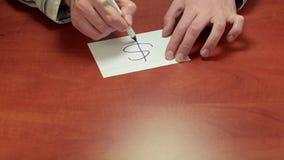 Mediator gives written advice Dollar symbol stock footage
