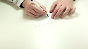 Mediator gives written advice Stop stock video footage