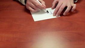 Mediator gives written advice Text stock video