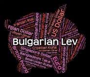 Mediatore di Lev Shows Currency Exchange And del bulgaro Fotografia Stock Libera da Diritti