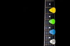 Mediatori della chitarra Immagine Stock