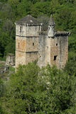 Mediaval castle in forest. France royalty free stock images