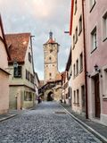 Mediaval Fairy Tale City Rothenburg Stock Image