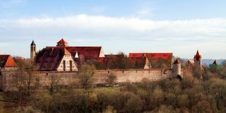 Mediaval Fairy Tale City Rothenburg Royalty Free Stock Image