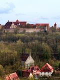 Mediaval Fairy Tale City Rothenburg Stock Images
