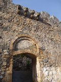 Mediaval fort st hilarion castle. In northern cyprus royalty free stock photo