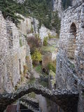 Mediaval fort st hilarion castle. In northern cyprus stock photos