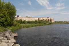 Mediaval fortress in Medzhibozh ukrainian place of glory photo Stock Image