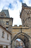 Mediaval towers in the Little Quarter in Prague. The Little Quarter (Mala Strana) is an old part of Prague. It is located above the Hradcany, the medieval part royalty free stock images