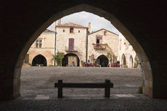 Mediaval town of Monpazier Royalty Free Stock Image