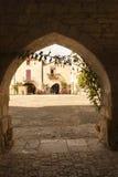 Mediaval town of Monpazier Stock Photo
