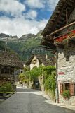 Mediaval village of Sonogno at the end of Val Verzasca in Switzerland. Mediaval village of Sonogno at the end of Val Verzasca in canton of Ticino, Switzerland royalty free stock photos