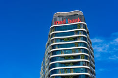 Medibank健康保险机构大厦在港区, Melb 免版税库存图片