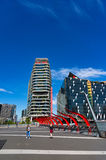 Medibank and NAB buildings in the Docklands, Melbourne Royalty Free Stock Photography