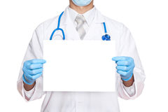 Medic doctor hold paper Stock Photos
