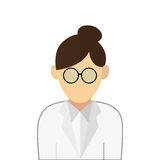 Medic or doctor icon. Simple flat design medic or doctor icon  illustration Royalty Free Stock Photo