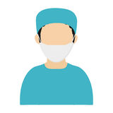 Medic or doctor with surgery outfit icon Stock Images