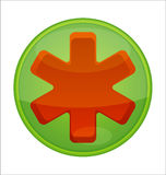 Medic green icon Stock Images