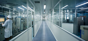 Medic In Laboratory Stock Photo