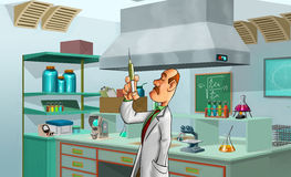 Medic in the lab Stock Images