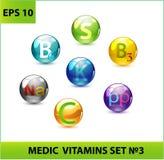 Medic Pills Set Stock Images
