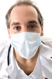 Medic with stethoscope and medical mask. Stock Images