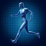 Medica ativo do diagrama de energia do corredor do homem Running ilustração do vetor