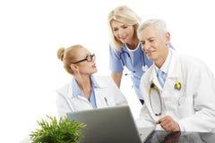 Medica personal som constulting Royaltyfri Foto