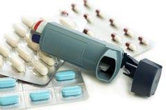 Medicación del asma fotografía de archivo