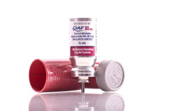 Medicación del asma de Qvar Imagenes de archivo