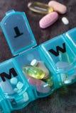 Medicación diaria Foto de archivo libre de regalías