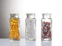 Medicación en botellas Imagen de archivo libre de regalías