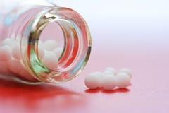 Medicación homeopática Fotografía de archivo libre de regalías