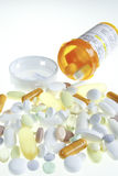 Medicación y botella Imagenes de archivo