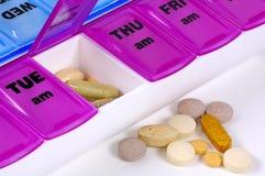 Medicación diaria Fotografía de archivo libre de regalías