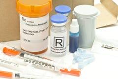 Medicaciones del diabético del pedido por correo imagen de archivo