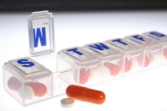 Medicaciones diarias Imágenes de archivo libres de regalías