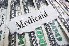 Medicaid pone título imagenes de archivo