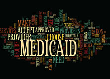 Medicaid Providers Text Background  Word Cloud Concept Royalty Free Stock Images