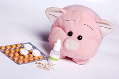Medical. Preparations for treatment of virus, flu and other diseases stock photos