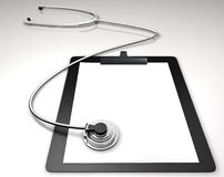 Medical. Stethoscope with a folder isolated stock illustration