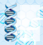 Medical abstract background. With DNA Stock Illustration