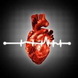 Medical abstract backgrounds. With human 3D rendered heart Royalty Free Stock Photography