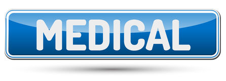 MEDICAL - Abstract beautiful button with text. MEDICAL - Abstract beautiful button with text Royalty Free Stock Images