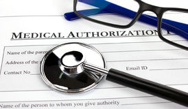 Medical Authorization Form Royalty Free Stock Photo - Image: 7222285