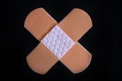 Medical adhesive bandage Stock Image