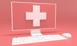 Medical advice online. 3d rendering Stock Photography