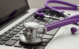 Medical advice online Stock Photography